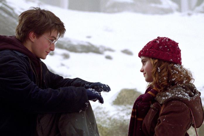 Harry e Hermione nella neve