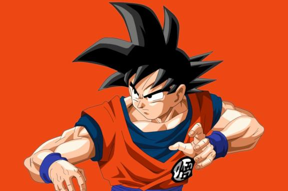 Goku si prepara al combattimento in Dragon Ball Z