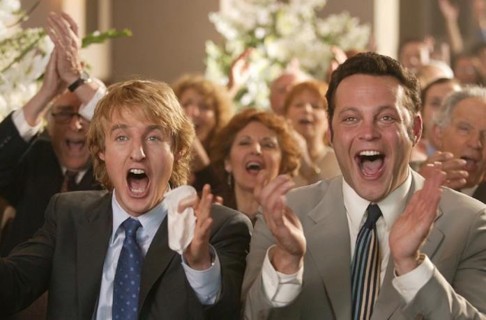 Owen Wilson e Vince Vaughn in una scena del film Wedding Crashers