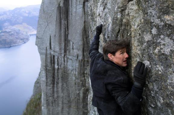 Tom Cruise in Norvegia nella scena finale di Mission: Impossible - Fallout