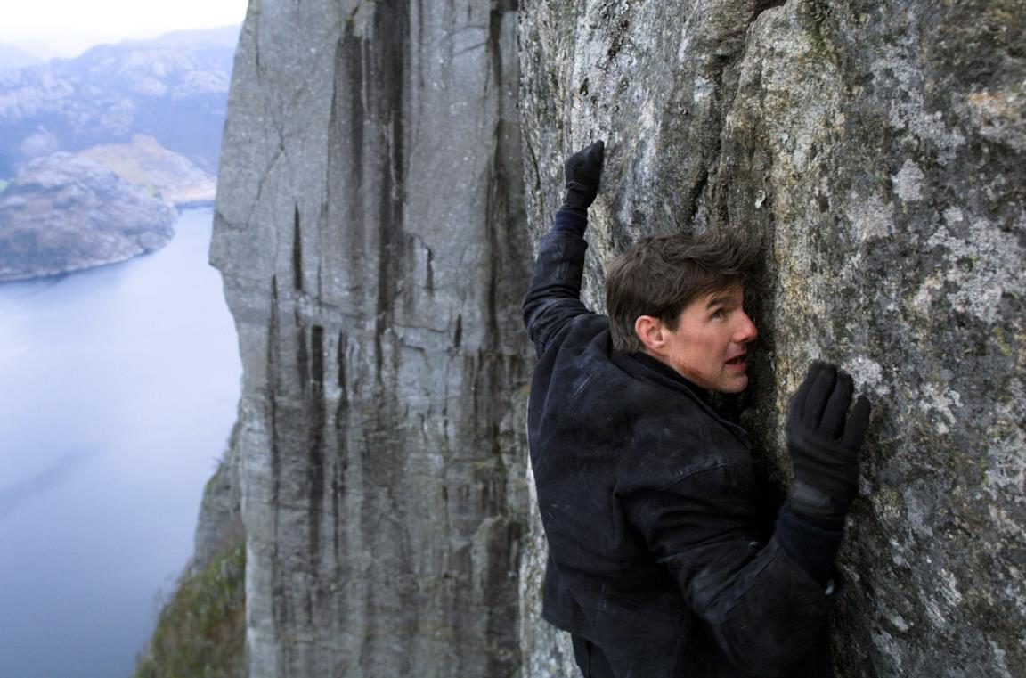 Tom Cruise in Norvegia nella scena finale di Mission: Impossible - Fallout