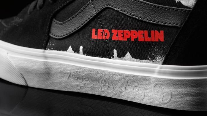 I loghi degli Zeppelin sulle Vans Sk8-Hi
