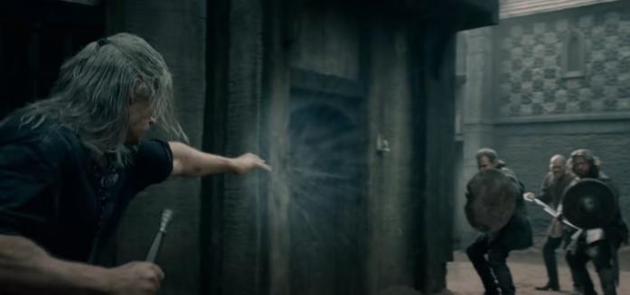 Geralt e i segni nella seri TV The Witcher