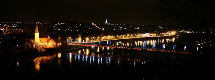 Un'immagine panoramica di Kaunas