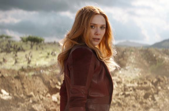 Un'immagine di Elizabeth Olsen come Scarlet Witch