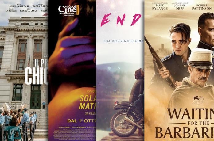 I poster di Il processo ai Chicago 7, Sola al mio matrimonio, Endless, Waiting for the Barbarians
