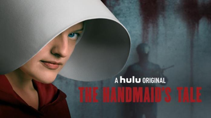 Il volto di Difred (Elisabeth Moss), protagonista della serie Hulu