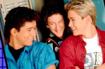 Primo piano di Mario López, Dustin Diamond e Mark-Paul Gosselaar
