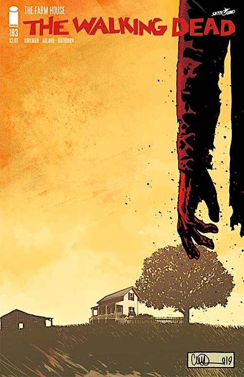 The Walking Dead: la copertina dell'ultimo numero a fumetti, il numero 193