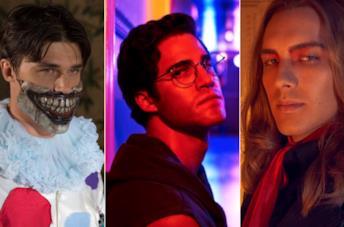Immagini promozionali di Finn Wittrock, Darren Criss e Cody Fern