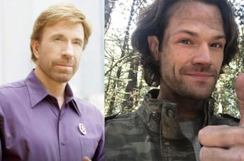 Chuck Norris e Jared Padalecki, in un collage