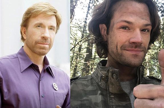 Chuck Norris e Jared Padalecki, in un collage