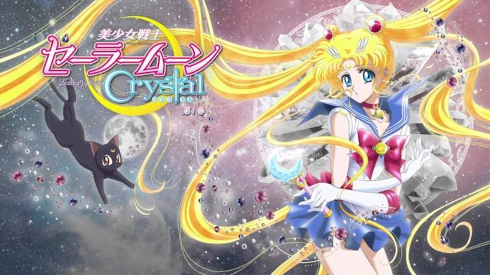 Luna e Sailor Moon nel poster di Sailor Moon Crystal