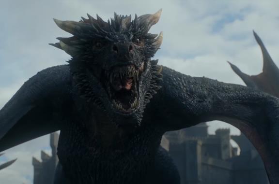 Drogon, il drago che ha portato via il corpo di Daenerys