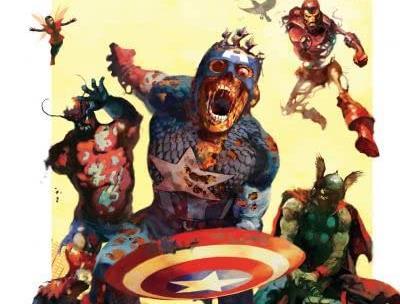 Dettaglio della cover di Marvel Zombies #2
