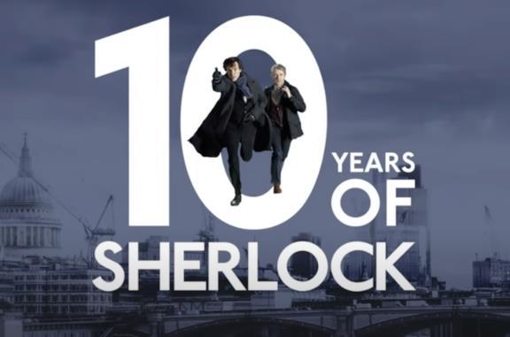 Il logo per i 10 anni di Sherlock BBC