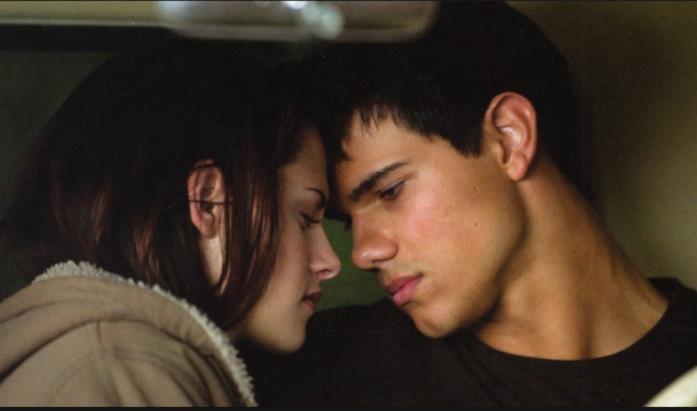 Una scena di Jacob e Bella in Twilight