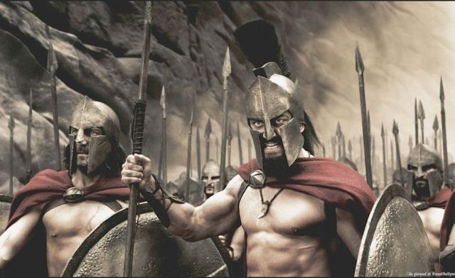 Leonida e Delios nel film 300