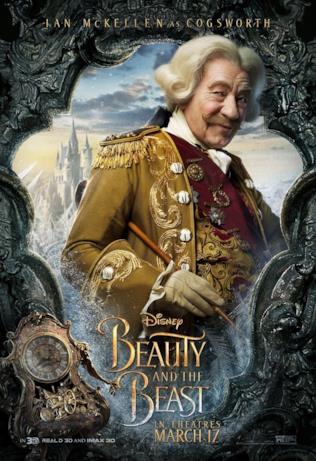 La Bella e la Bestia - Ian McKellen nel ruolo di Tockins