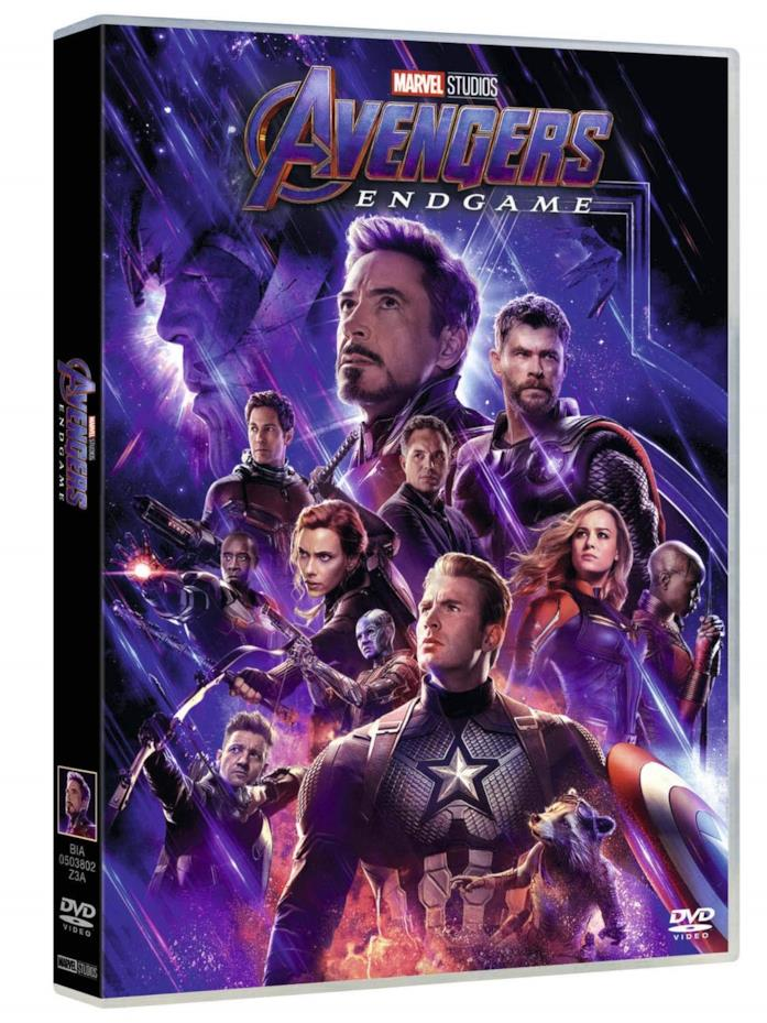 La cover dalla versione DVD di Avengers: Endgame