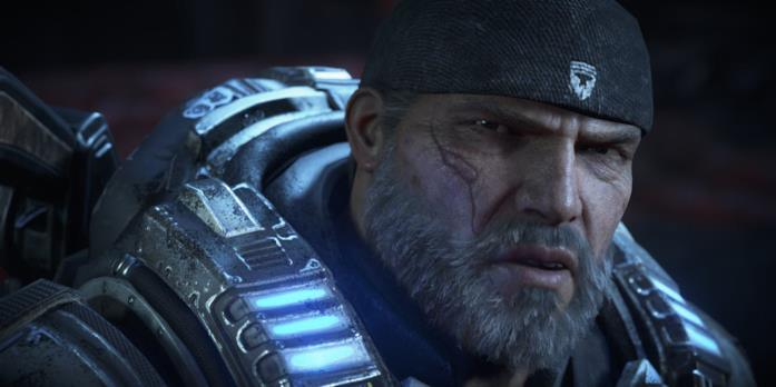 Marcus Fenix in uno screenshot da Gears of War 4