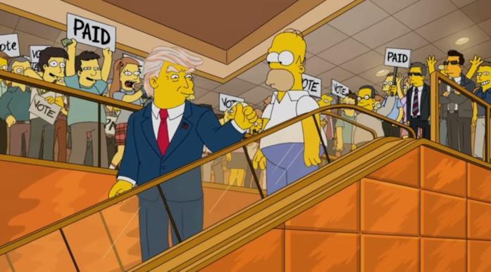 Una sequenza di un episodio speciale dei Simpson