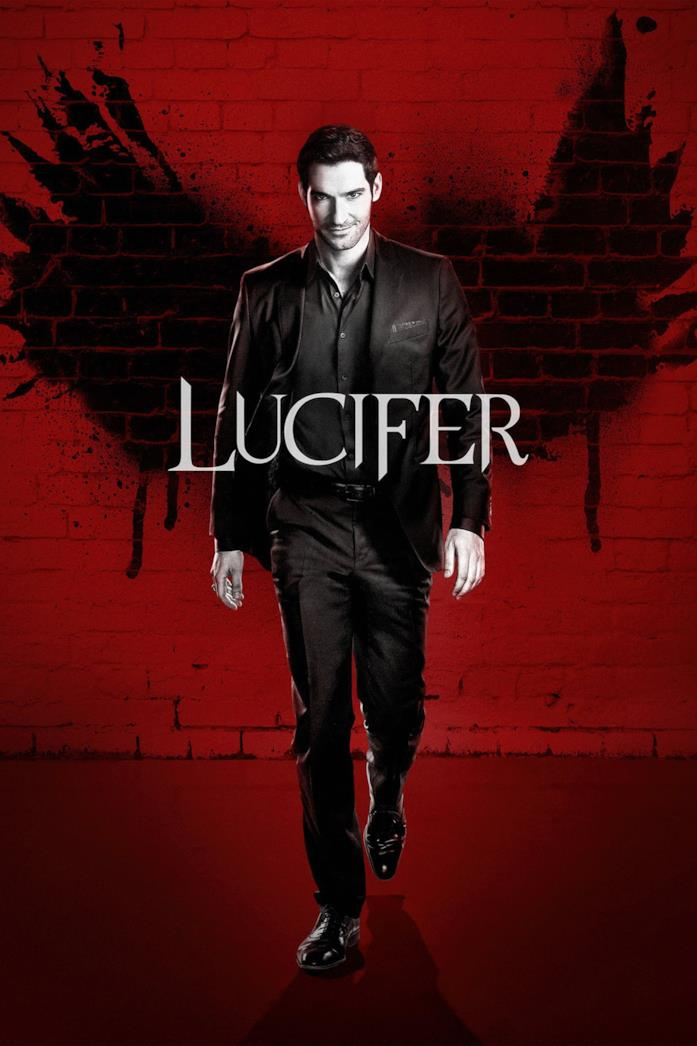 Tom Ellis nel poster di Lucifer