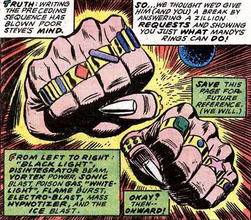 I 10 anelli indossati dal Mandarino nei fumetti