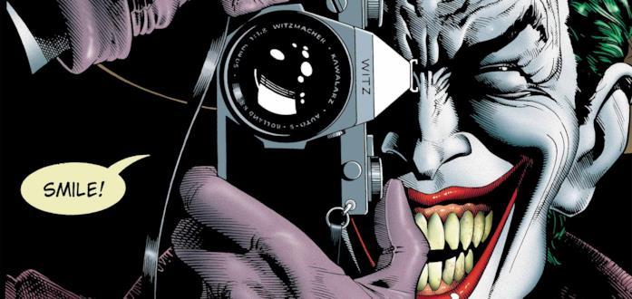 Joker sulla cover di Batman: The Killing Joke