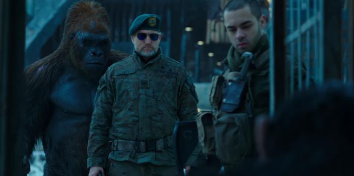 Woody Harrelson in una scena di The War - Il pianeta delle scimmie