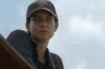 Maggie Greene in una scena dell'episodio 7x08 di The Walking Dead