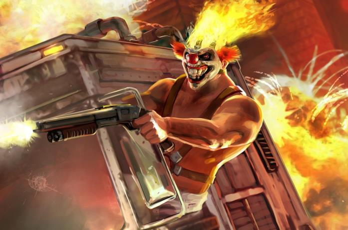 Un immagine con uno dei protagonisti del videogame Twisted Metal