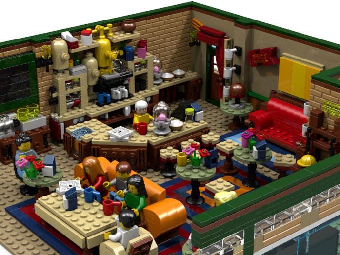 Alcuni dettagli del set  Central Perk Coffee di Friends di LEGO