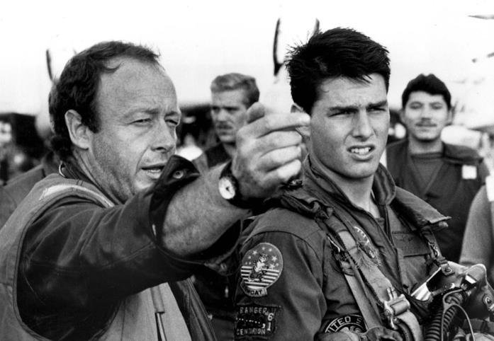 Tony Scott e Tom Cruise sul set del film