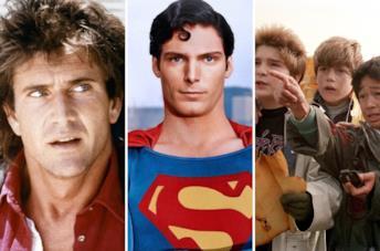 Una scena da Arma Letale, Superman e I Goonies