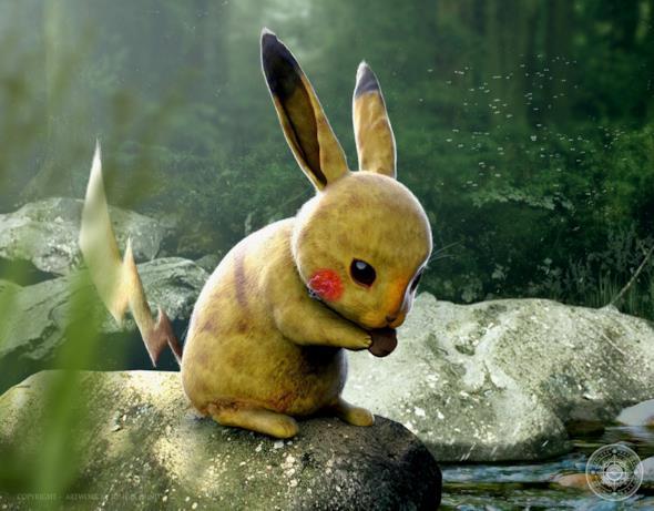 Pikachu nel mondo reale così come immaginato da Joshua Dunlop