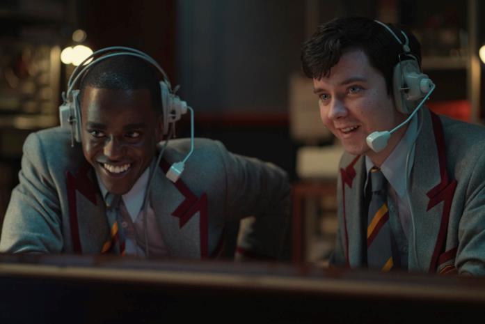 Eric e Otis in una scena delle nuove puntate di Sex Education