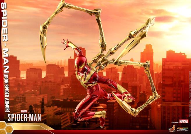 Iron Spider di Hot Toys in azione