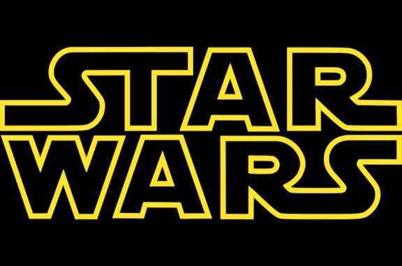 L'iconico logo di Star Wars