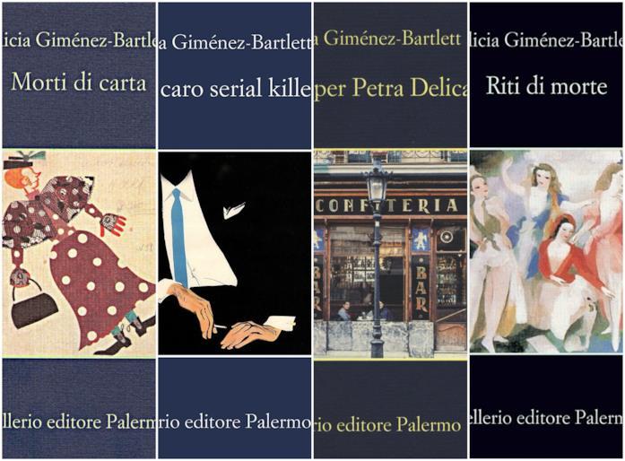 Alcune copertine di romanzi su Petra Delicado