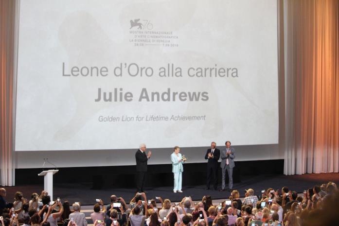 Cerimonia per l'assegnazione del Leone d'Oro alla carriera di Julie Andrews
