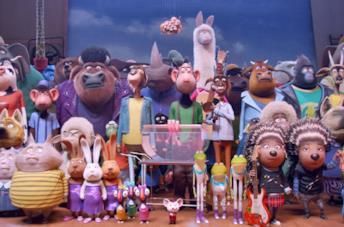 Una scena del film d'animazione Sing