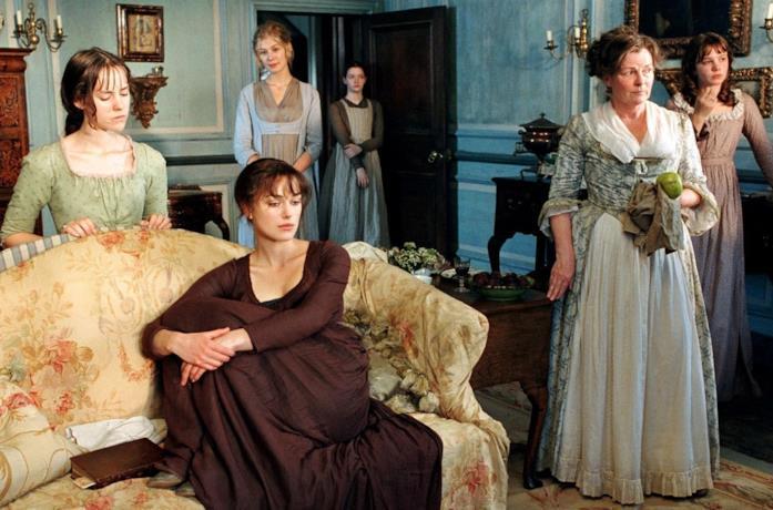 Keira Knightley è Elizabeth Bennet in Orgoglio e pregiudizio di Joe Wright (2005)