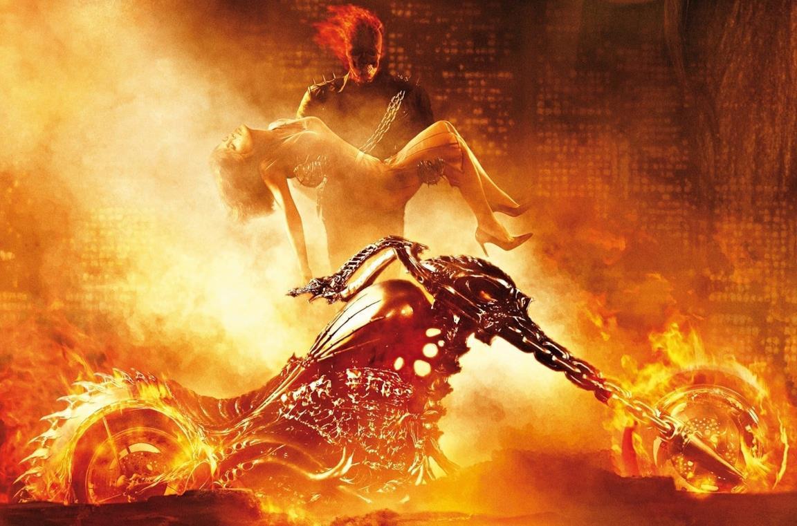 Il poster del film del 2007 dedicato a Ghost Rider