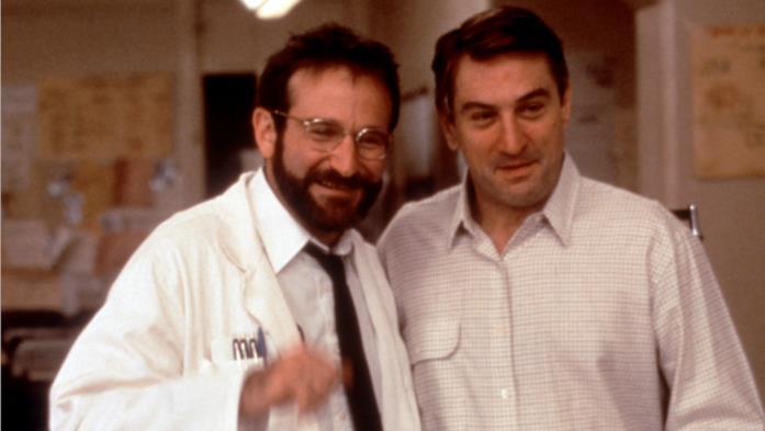 Robert De Niro e Robin Williams sul set di Risvegli