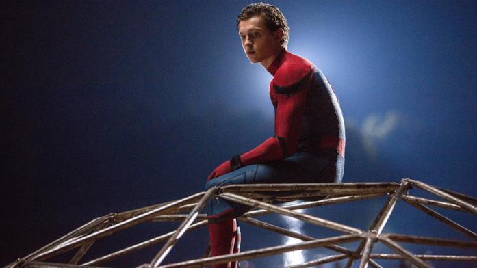 Tom Holland in una scena di Spider-Man: Homecoming