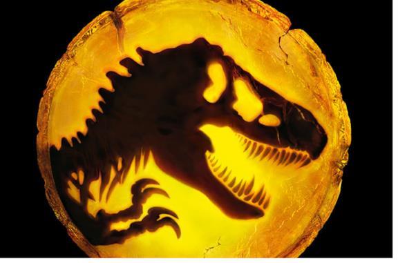 Lo scheletro del T-Rex dentro l'ambra