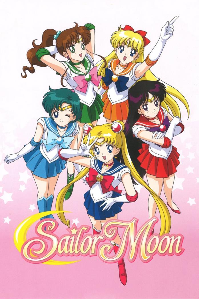 Un'immagine delle combattenti nell'anime storico di Sailor Moon