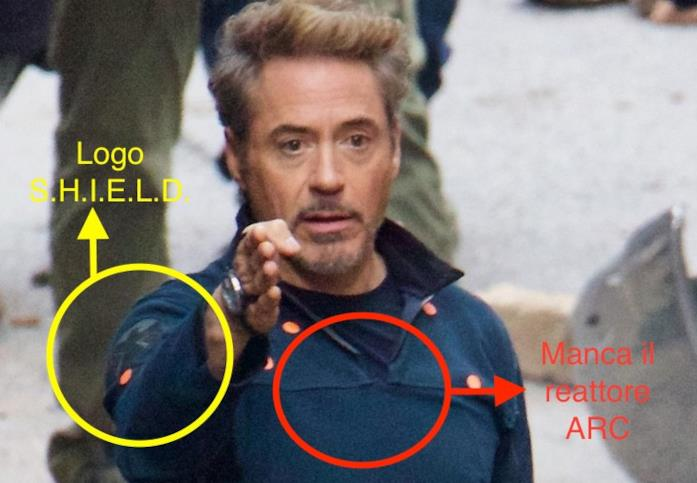Tony Stark nel dettaglio in Avengers 4