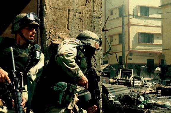 Una scena di Black Hawk Down